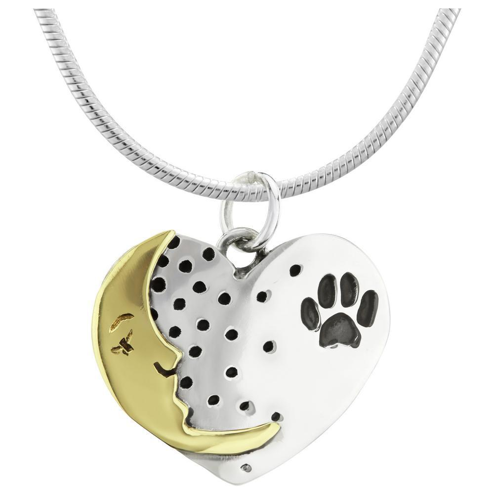 Moonstruck Paw Sterling Necklace