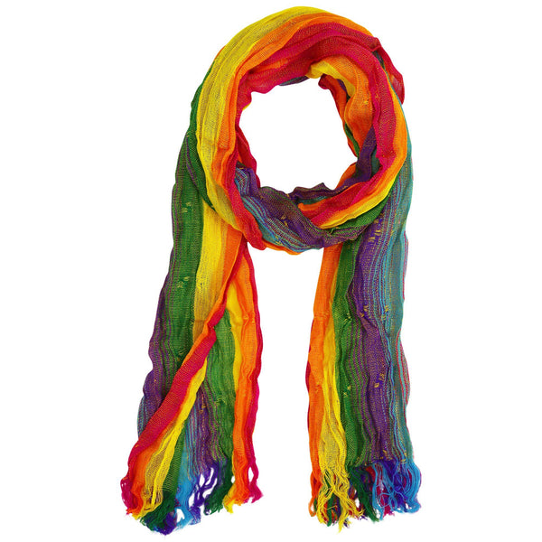 Multicolor Hand-Loomed Scarf