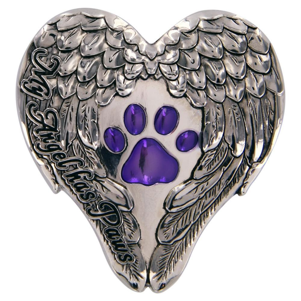 My Angel Purple Paw Visor Clip