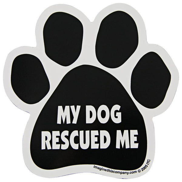 My Dog Rescued Me Car Magnet