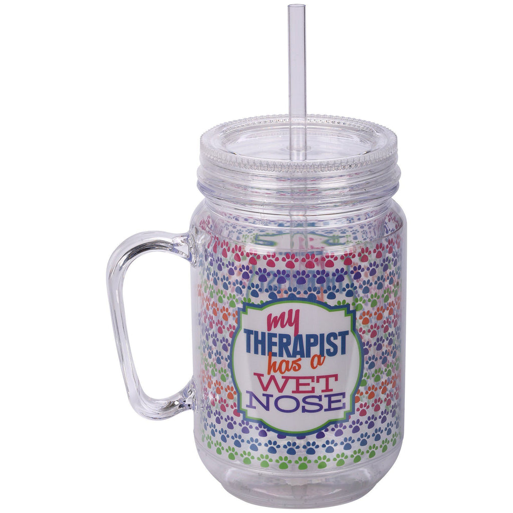 My Therapist Has A Wet Nose Mason Jar