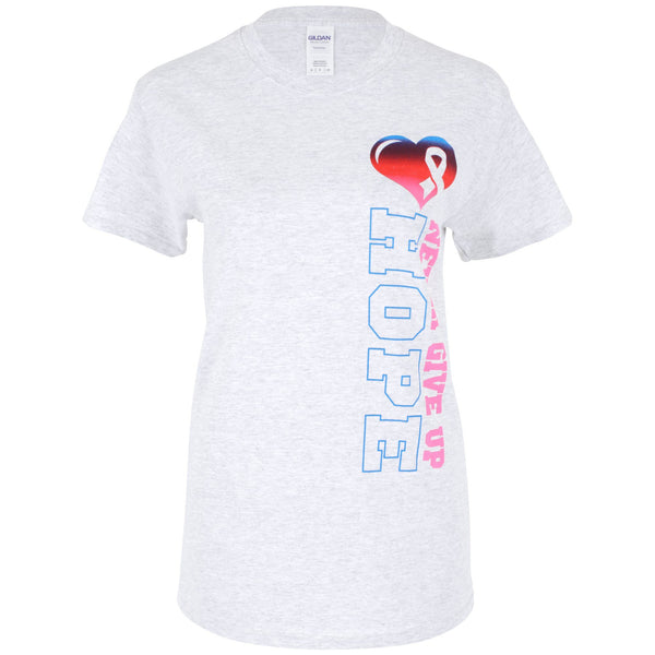 Never Give Up Hope Cancer Awareness T-Shirt