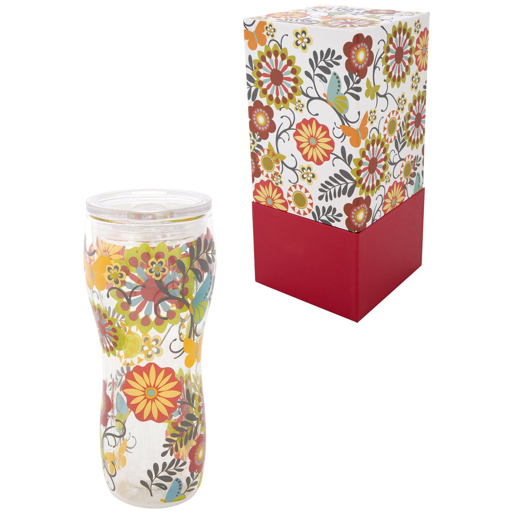 Nordic Blooms Gift Boxed Travel Tumbler