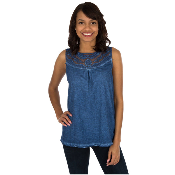 Ocean Blue Sleeveless Top