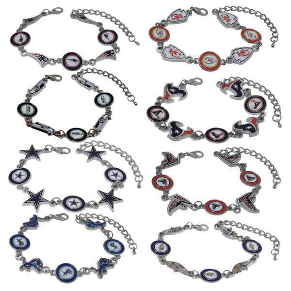Officially Licensed NFL Stainless Steel Bracelet