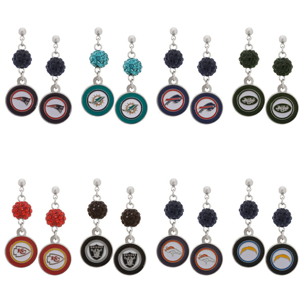 Officially Licensed NFL Stainless Steel Earrings