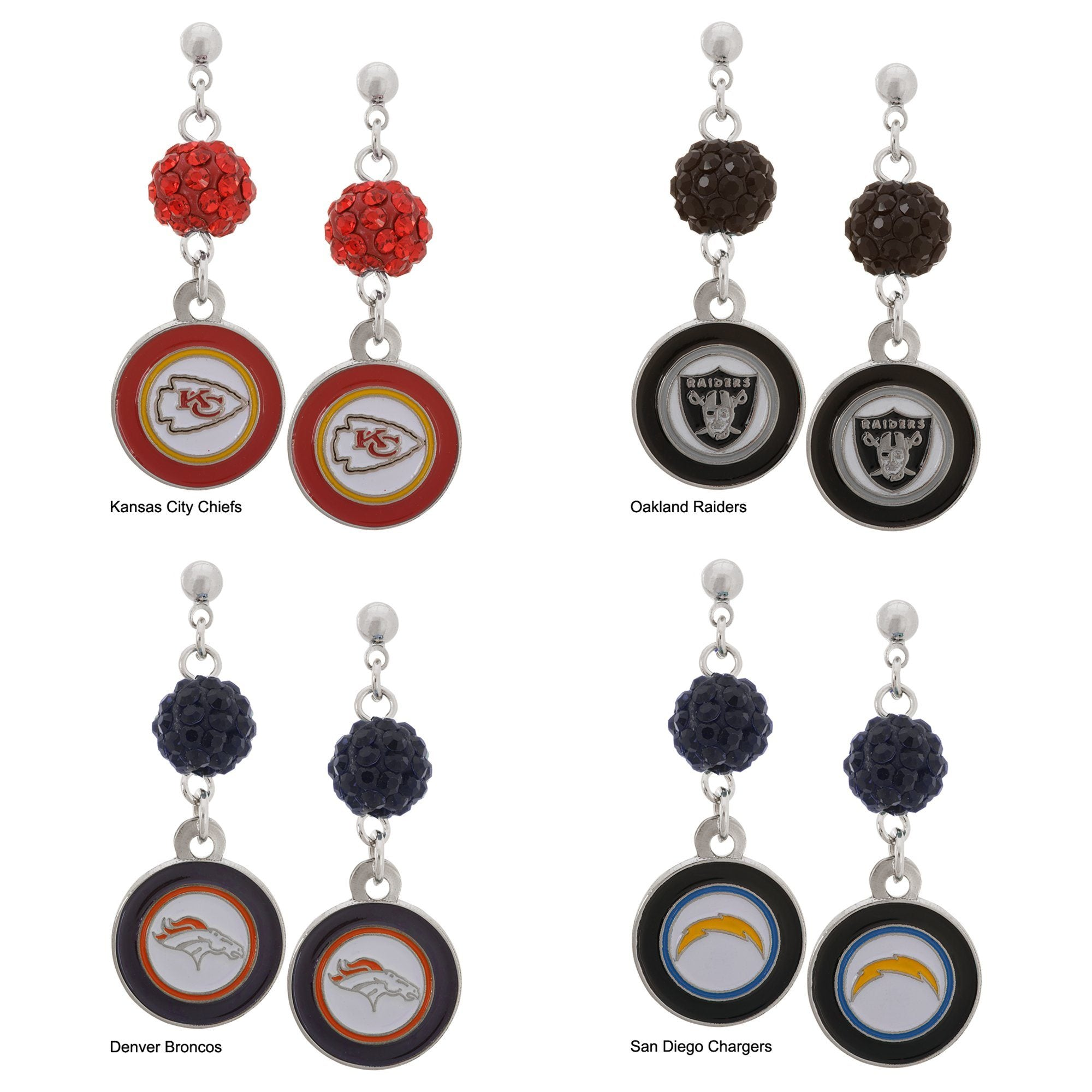 Officially Licensed Nfl Stainless Steel Earrings The