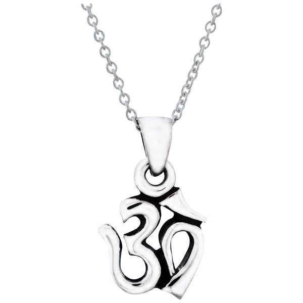 Om Sterling Necklace