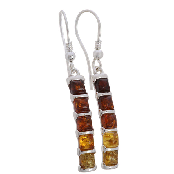 Ombre Amber & Sterling Earrings