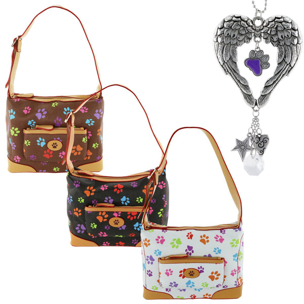 On Angel Wings Purple Paw Bag & Charm