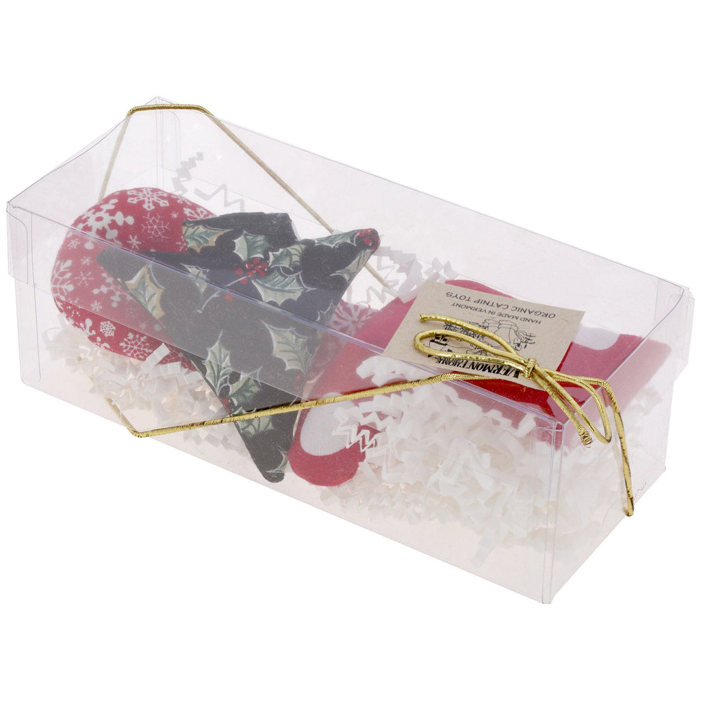 Organic Catnip Holiday Cat Toys Gift Box