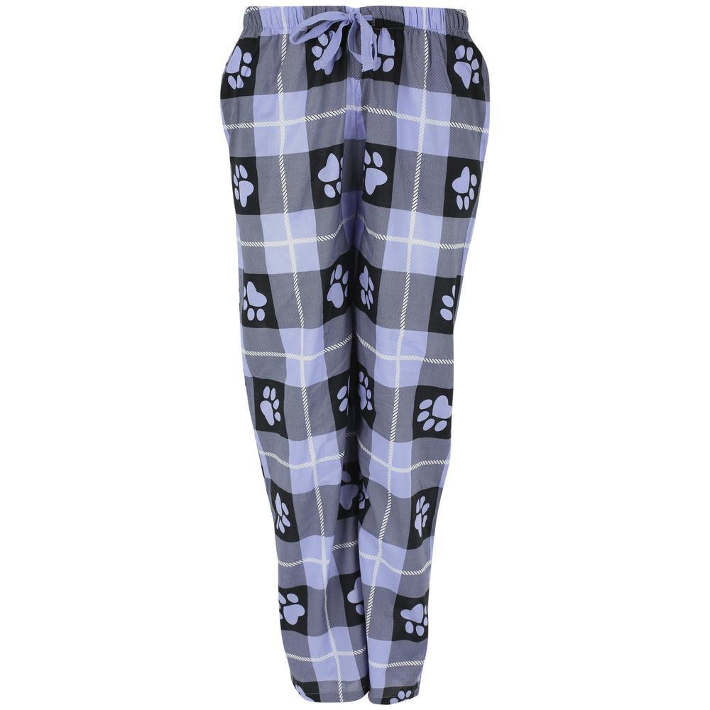 Pastel Plaid Paw Lightweight Lounge Pants