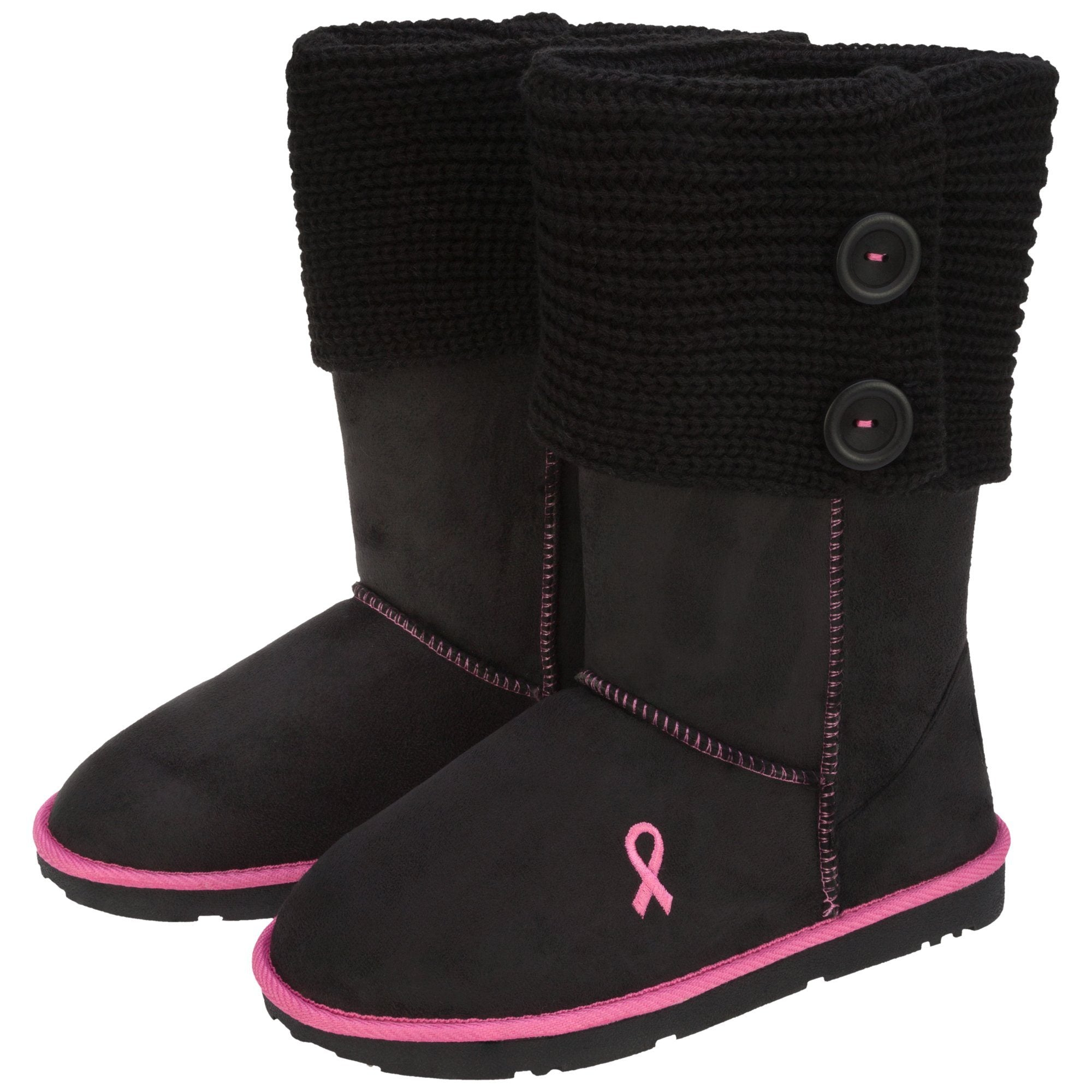 "6/"" Breast Cancer Biker Boot Straps"