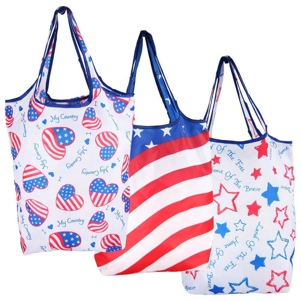 Patriotic Shopping Bags - Set Of 3