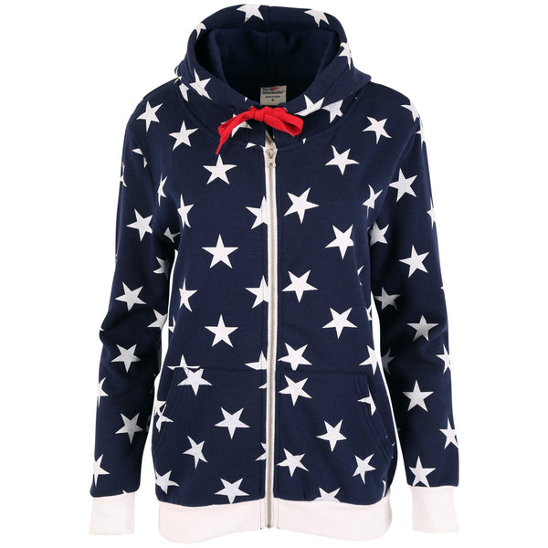 Patriotic Stars Hooded Zip Sweatshirt