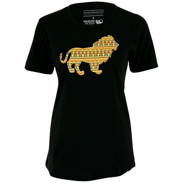 Patterned Lion Tee