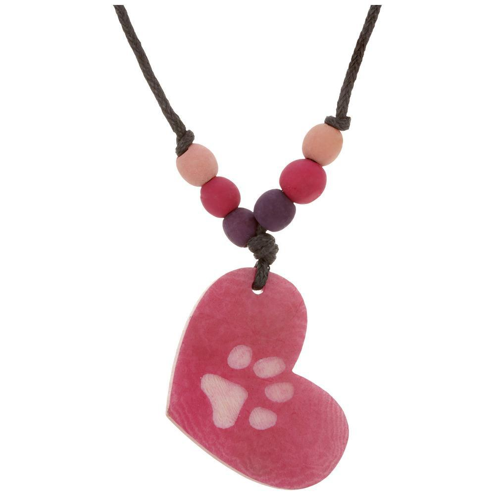 Paw In My Heart Tagua Necklace