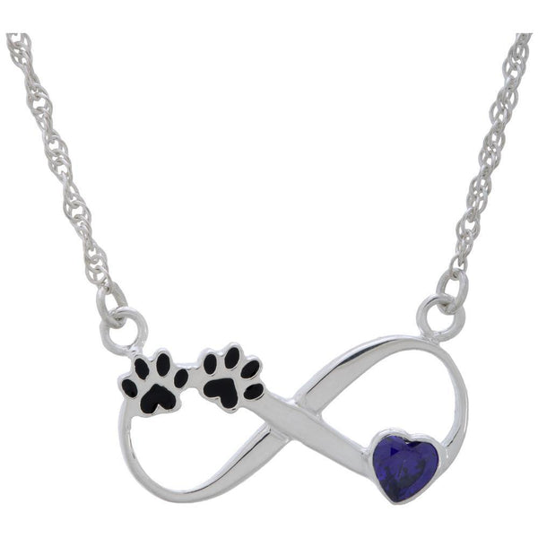 Paw Love Forever Sterling Necklace