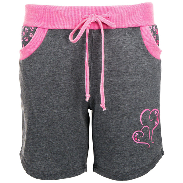Paw Print Heart Burnout Shorts