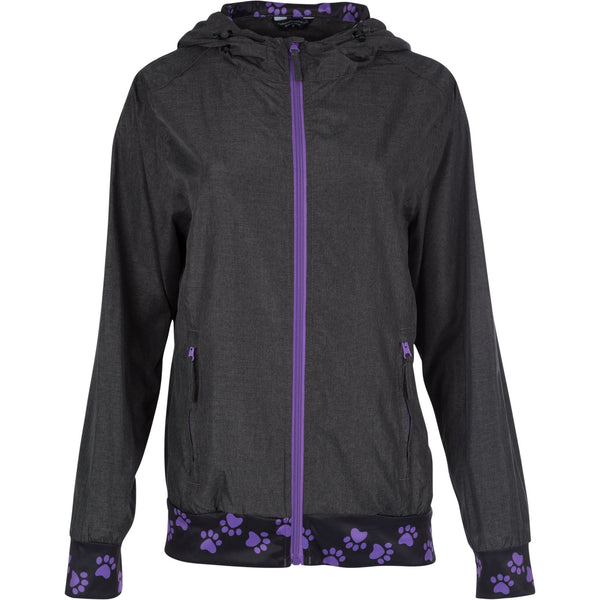 Paw Print Lightweight Hooded Jacket