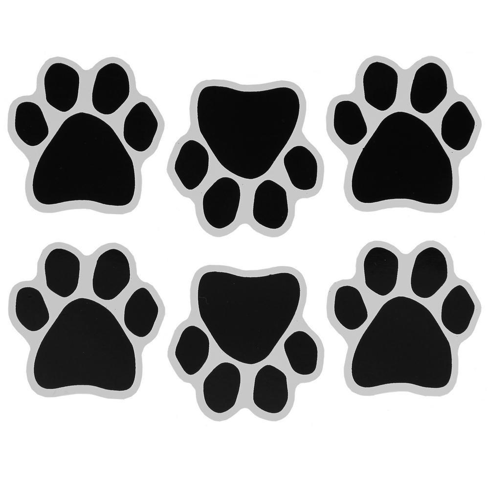 Paw Print Mini Car Magnets Set