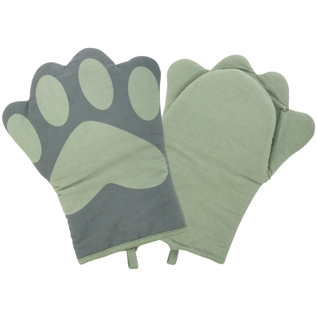 Paw Print Oven Mitt - Set Of 2
