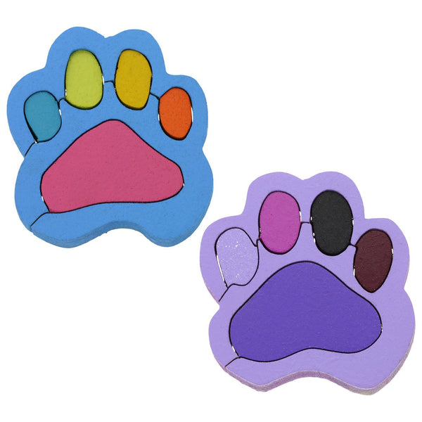 Paw Print Puzzle Magnet