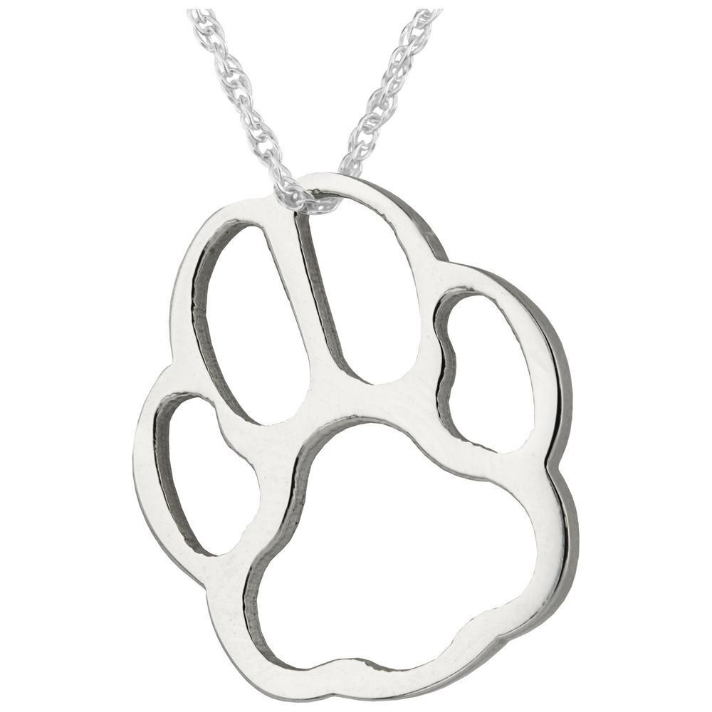 Paw Print Silhouette Necklace