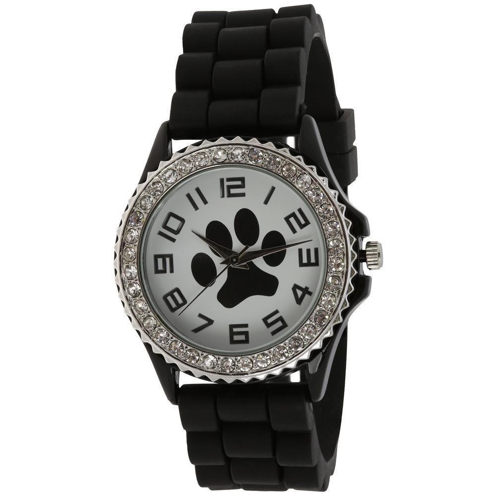 Paw Print Silicone Watch