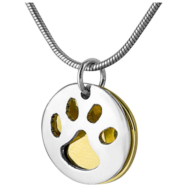 Paw Print Silver-Plated Necklace