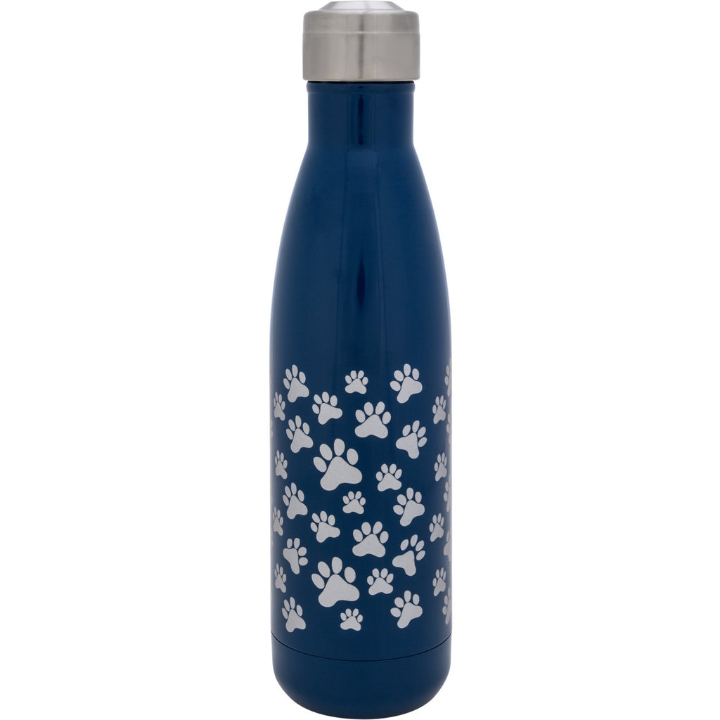 Paw Print Stainless Steel Water Bottle