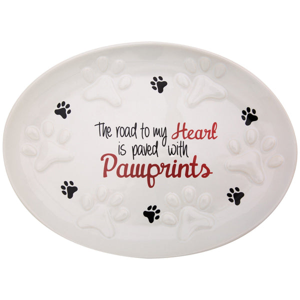 Paw Prints On My Heart Platter