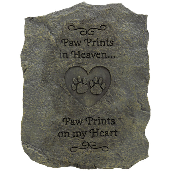 Paw Prints On My Heart Resin Memory Stone