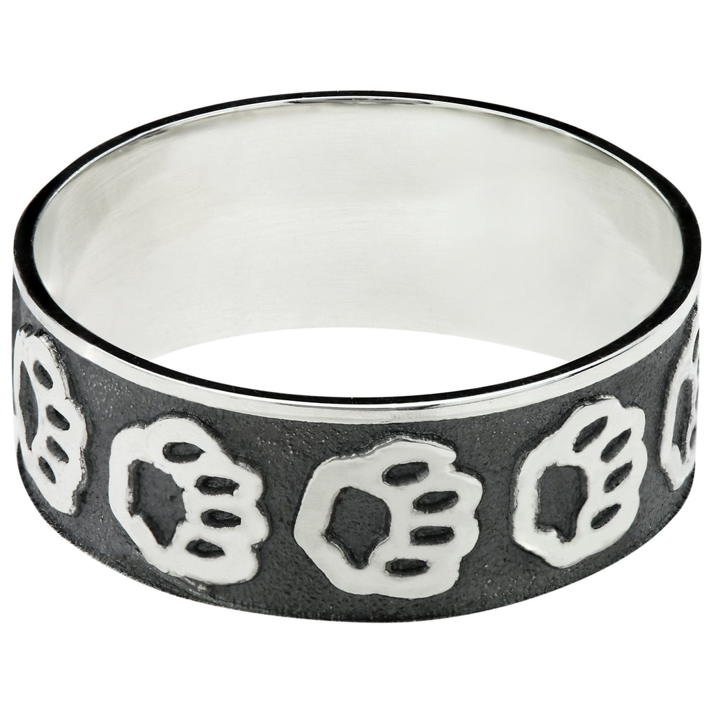 Paw Prints Parade Sterling Ring