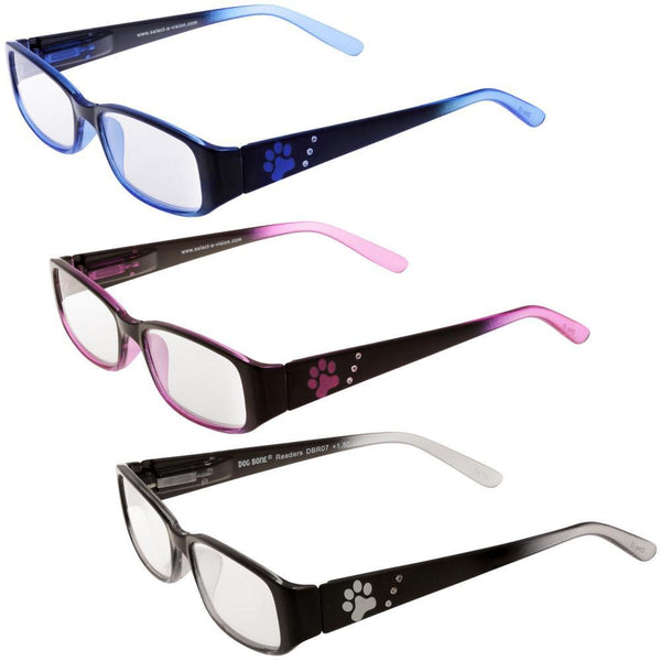 Paw Rhinestone Reading Glasses
