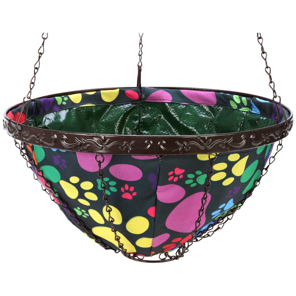 Paws All Around Hanging Garden Art Basket