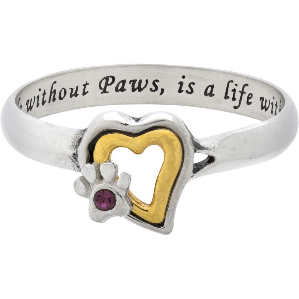 Paws Bring Love Sterling Ring