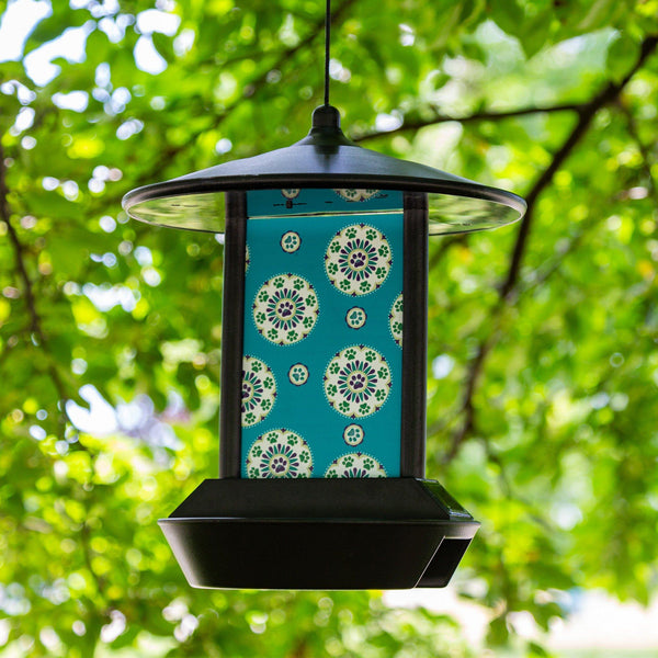 Paws Medallion Solar Light Bird Feeder