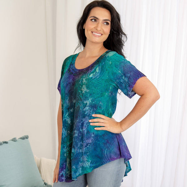Peacock Love Tunic