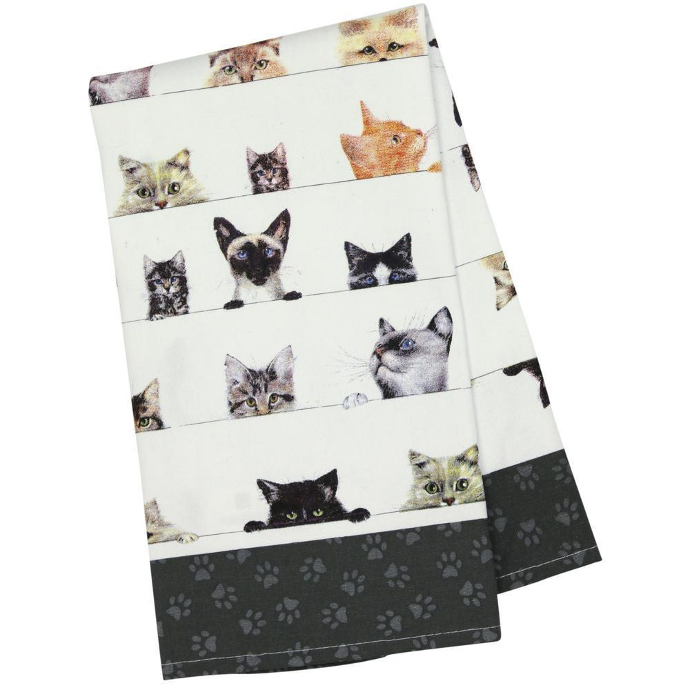 Peeping Felines Kitchen Towel