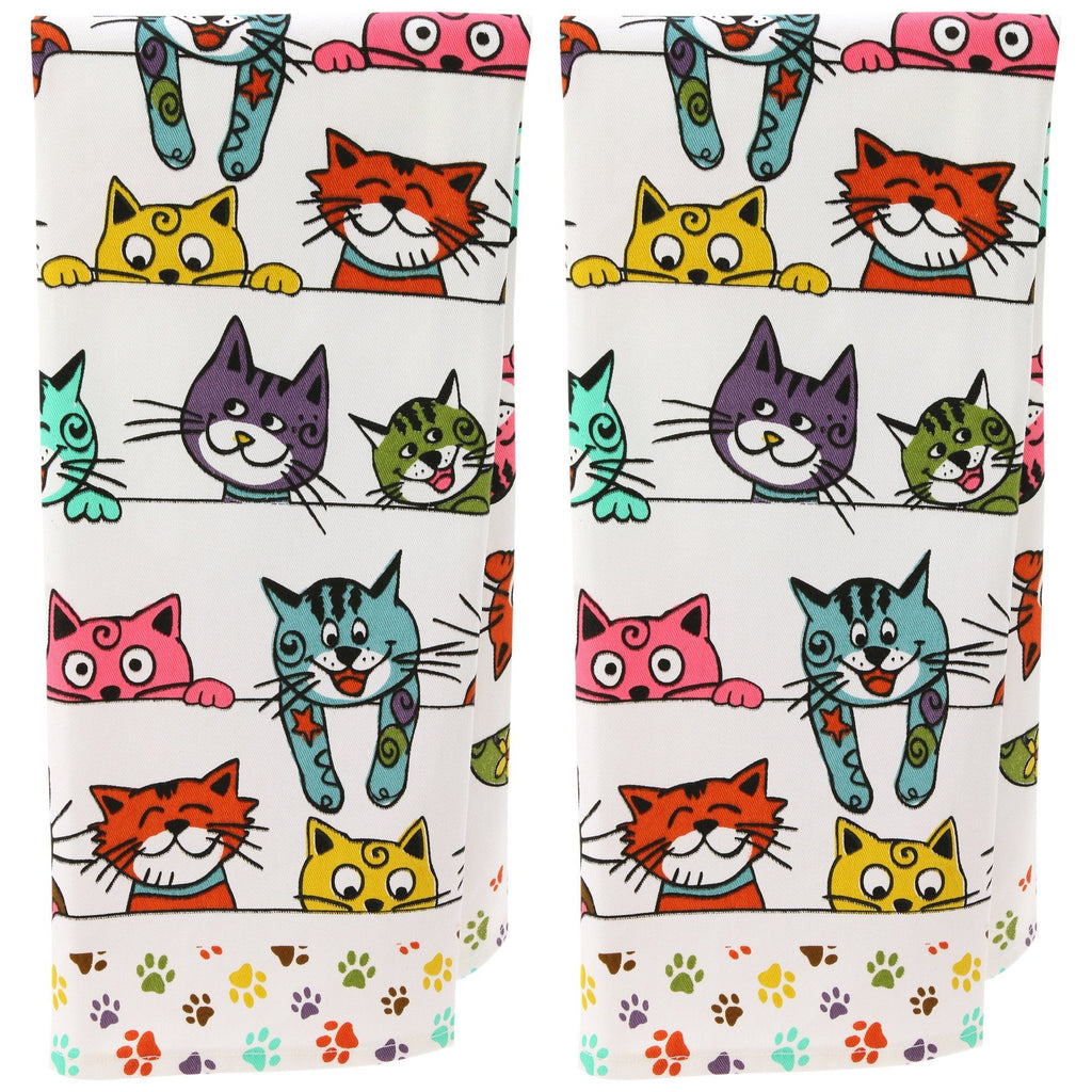 Peeping Kittens & Pups Kitchen Towel Collection