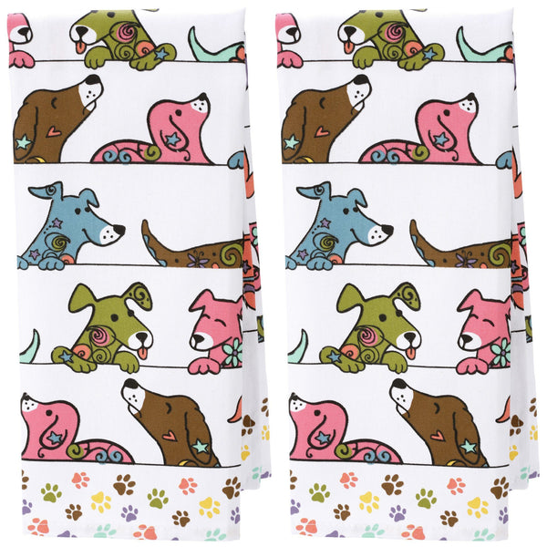 Peeping Pups Kitchen Towels Set