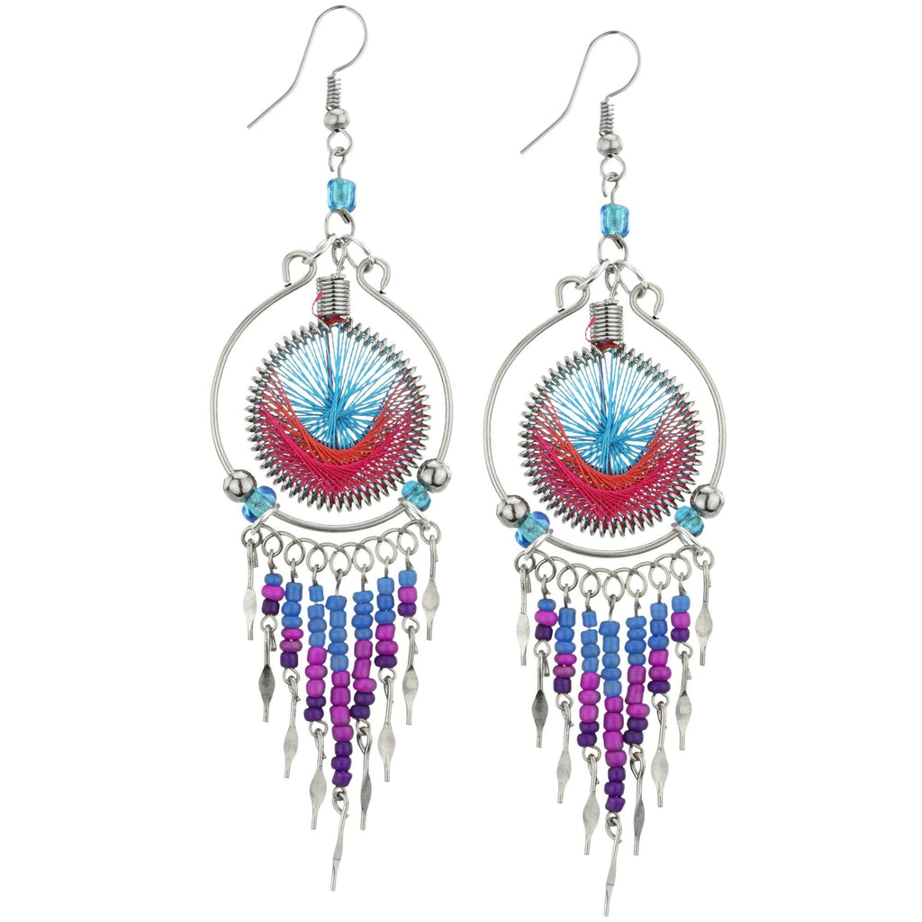 Peruvian Thread Chandelier Earrings