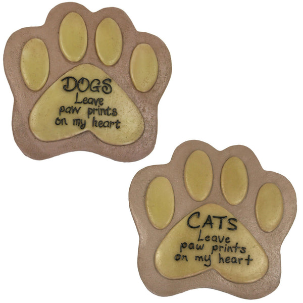 Pets Leave Paw Prints Resin Garden Stone Collection