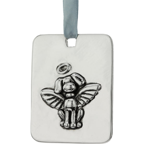 Pewter Dog Angel Ornament