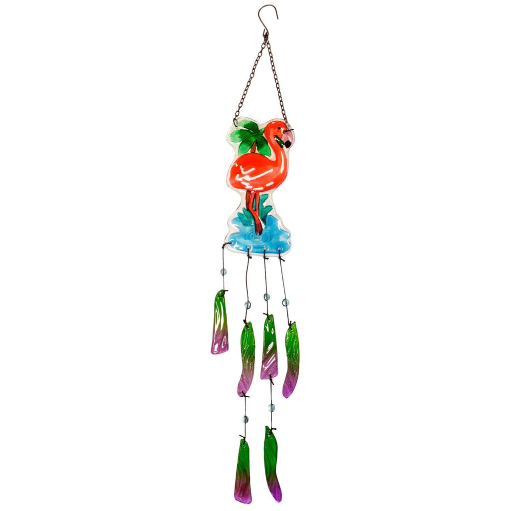Pink Flamingo Paradise Wind Chime