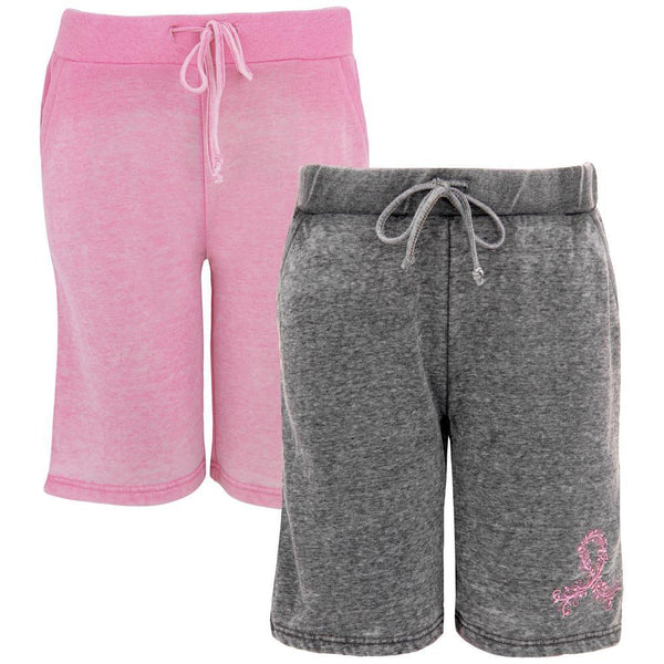 Pink Ribbon Burn Out Board Shorts