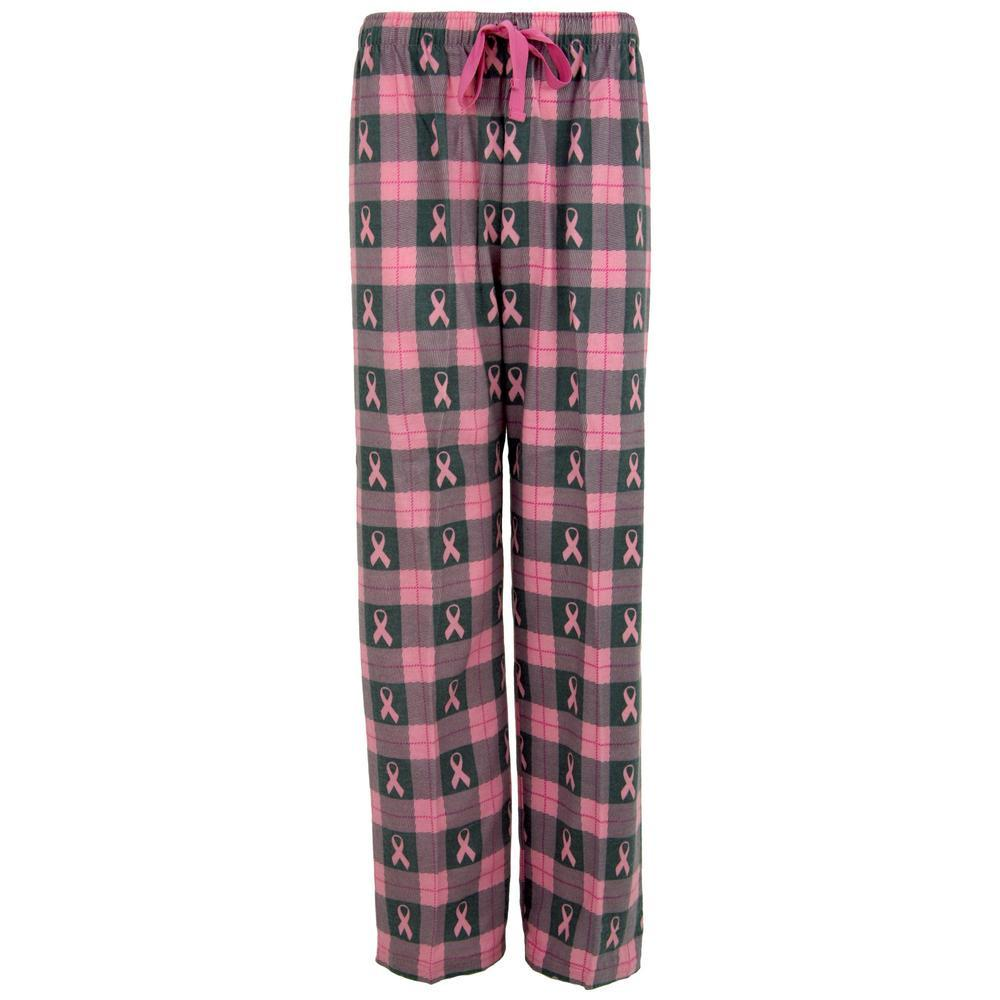 Pink Ribbon Flannel Lounge Pants