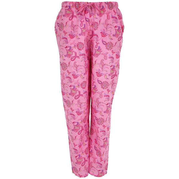 Pink Ribbon Floral Lightweight Lounge Pants