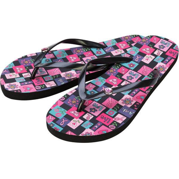 Pink Ribbon Love Flip Flops